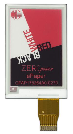 2.7 inch 3-color ePaper display (CFAP176264A0-0270)