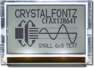 128x64 SPI Graphic LCD Display (CFAX12864T1-TFH)