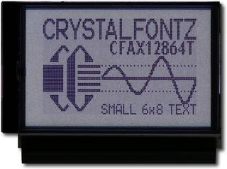 128x64  Parallel Graphic LCD (CFAX12864T1-WFH)