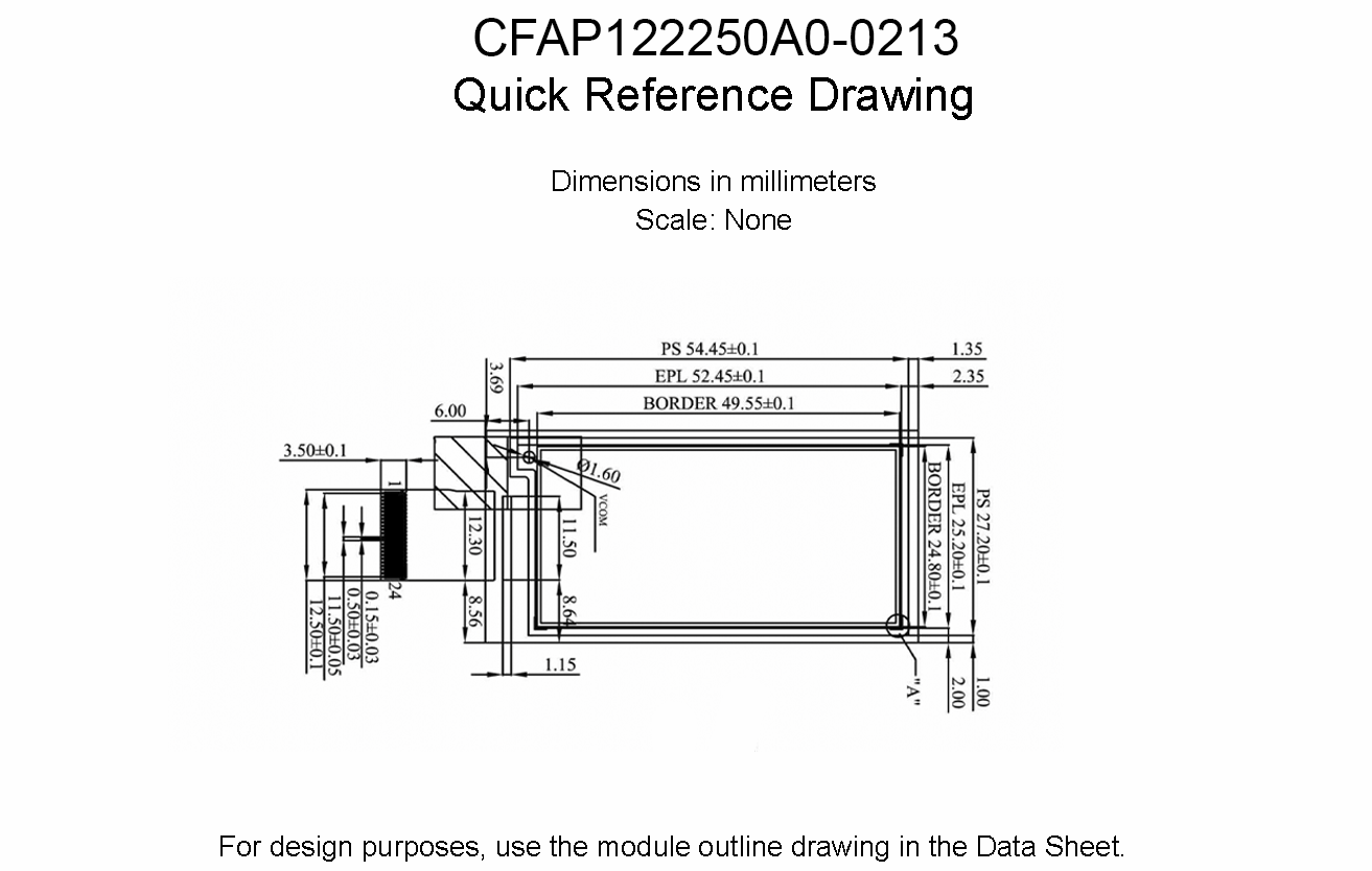 CFAP122250A0-0213 Scale Drawing