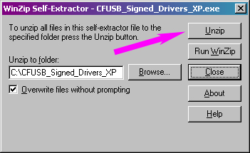 extract drivers from a self-installing executable